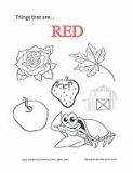 color red coloring page