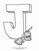 J coloring page