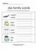 ale family worksheet