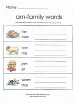 am family worksheet