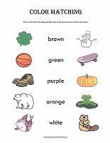 color matching worksheet