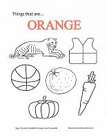 learning orange coloring page