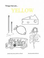 learning yellow coloring page