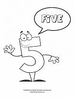 number character coloring pages