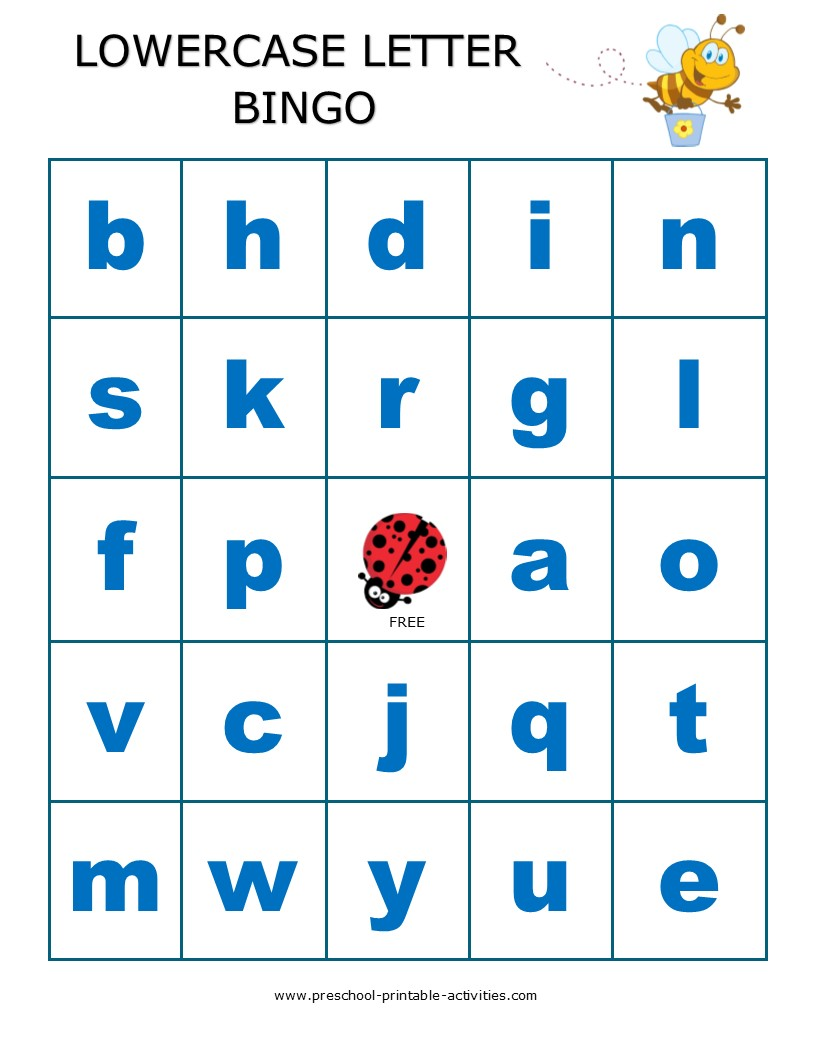 printable preschool bingo games