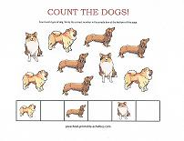 counting dogs worksheet
