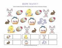 counting worksheet for easter