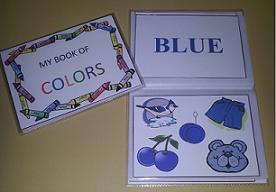 preschool colors flip book