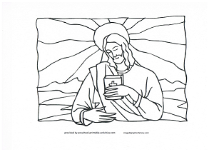 Jesus coloring page