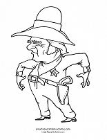 sheriff coloring page
