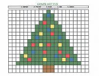 graph art christmas tree
