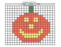 graph art pumpkin