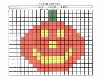 graph art pumpkin