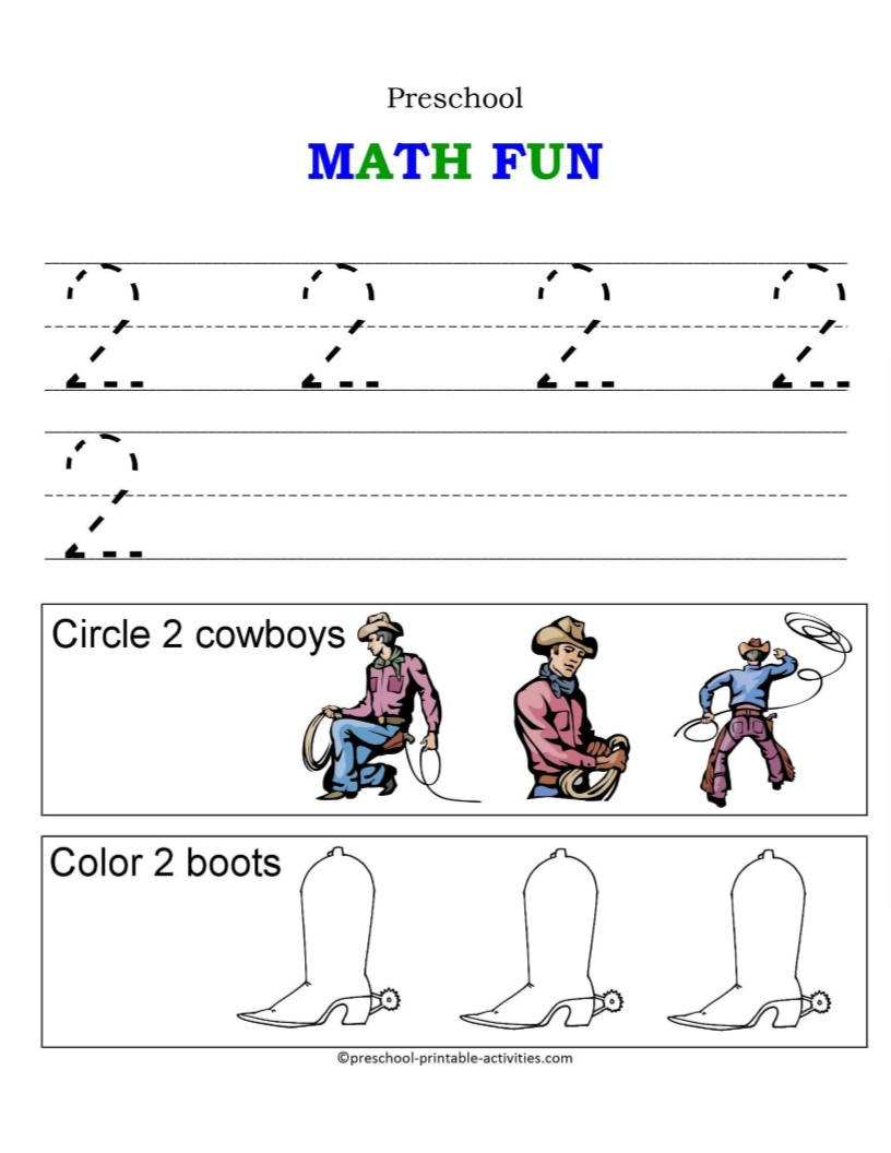 Number Worksheets on Simple Shapes Coloring Pages