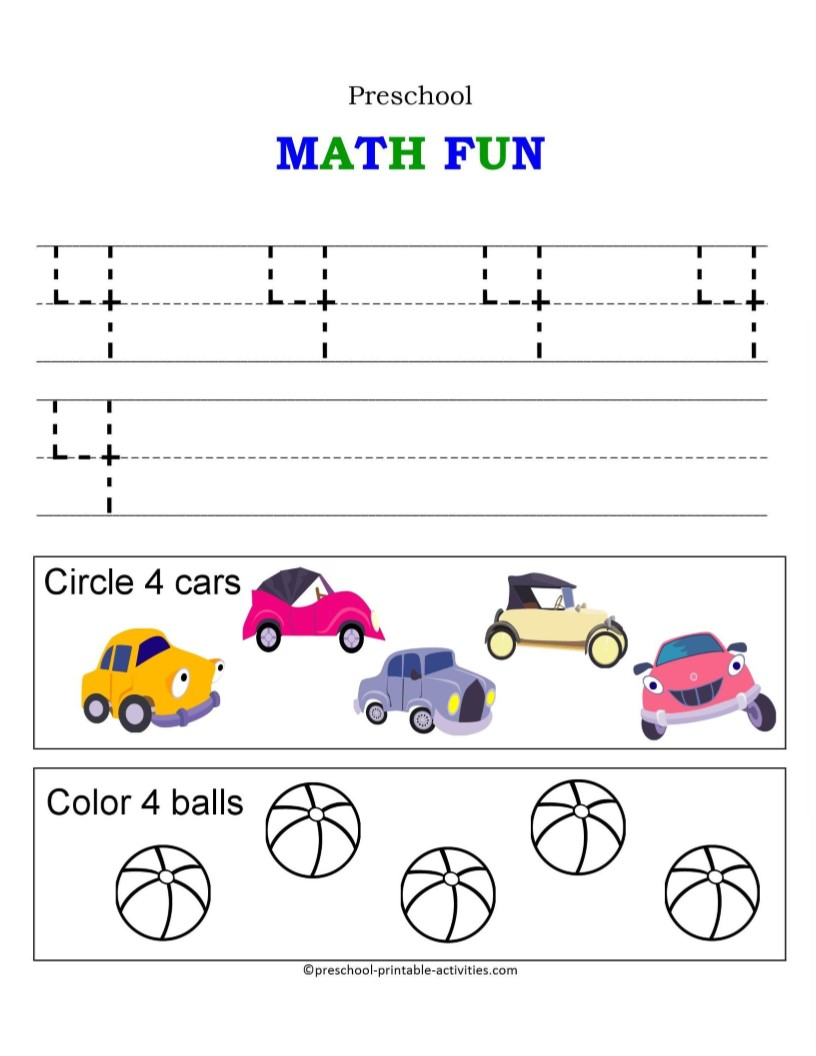 Number Worksheets – Number 4 Worksheets
