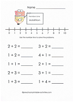 number line math worksheet