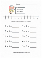addition number line practice page