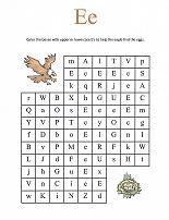 Letter E Maze