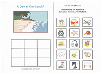 what do you see at the beach worksheet