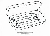 pencil case coloring page