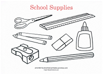 school supplies coloring pages printables - photo#30