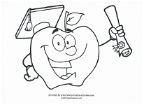 preschool graduation coloring page