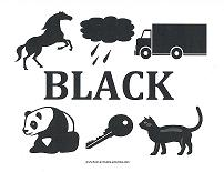 Image result for color black preschool