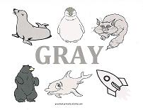 gray objects wall card