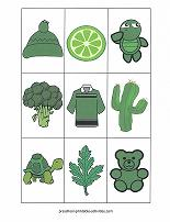 green color matching game cards