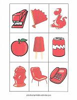 red color matching game cards