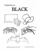 learning black coloring page
