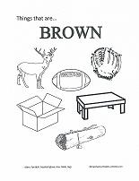 learning brown coloring page