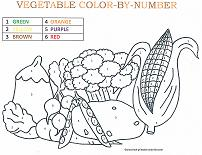 vegetable coloring by number page