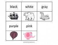 printable match game of color names