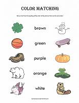 color matching worksheet - Color Activity For Preschool