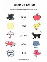 color matching worksheet