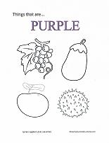 learning purple coloring page