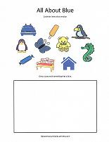 color blue worksheet