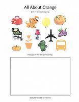 orange color worksheet