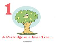 partridge in a pear tree wall card