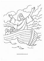 Jesus calms the sea coloring page