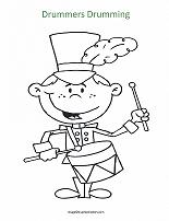 drummers drumming coloring page