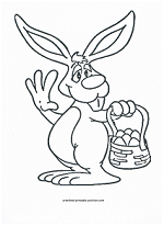 daffy easter bunny coloring page