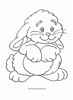 cute bunny coloring page