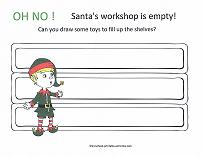 santa's workshop coloring page