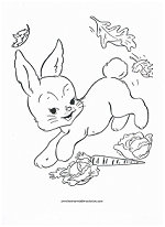 fall rabbit coloring page