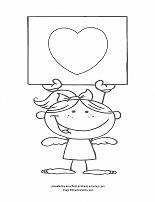 valentine girl coloring sheet