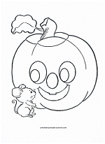 happy jack o lantern coloring page