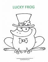 irish frog coloring page