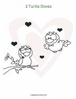 turtle doves coloring page